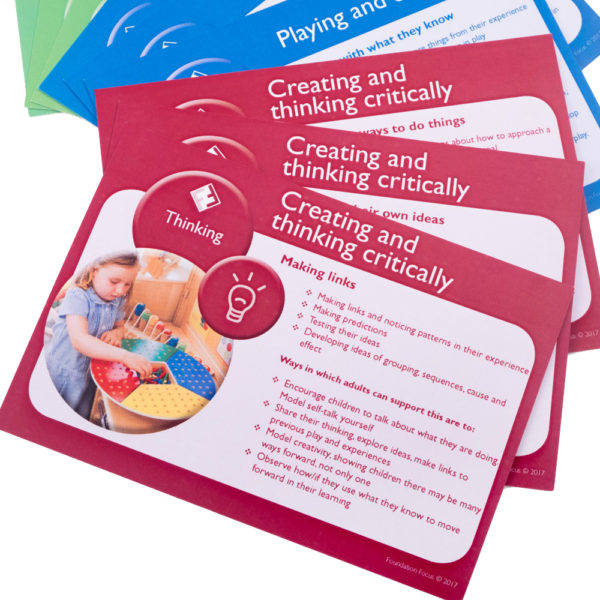 eyfs characteristics of effective learning cards