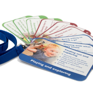 eyfs characteristics of effective learning key ring cards